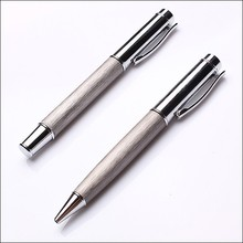 Grey High End Smoothly Writing Stainless Steel Wire Drawing Gift Pen