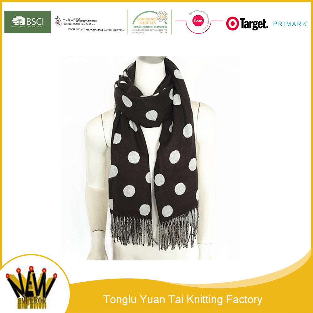 Hot sale beautiful printing dot hijab scarf