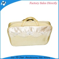 Travel use foldable hanging fabric cosmetic bags