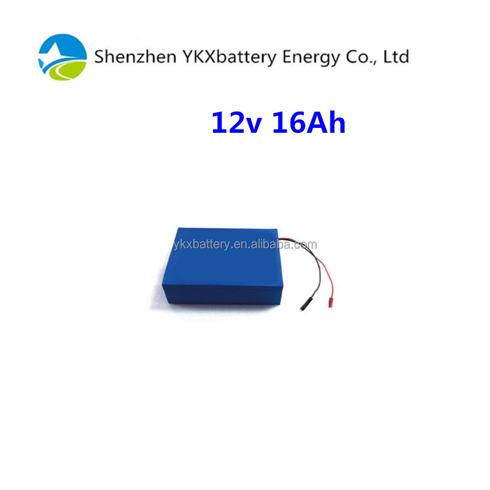18650 12v battery Li-ion battery pack 12v 16Ah for powered industrial LED light