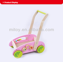 2016 wholesale baby wooden walker toy educational kids walker outdoor children wooden walker toy