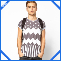 custom fashion korean fashion stripe top t shirts
