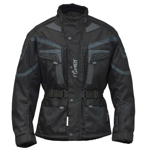 "Roemer ""New York"" Motorcycle Jacket textile with leather elements, protectors, waterproof"