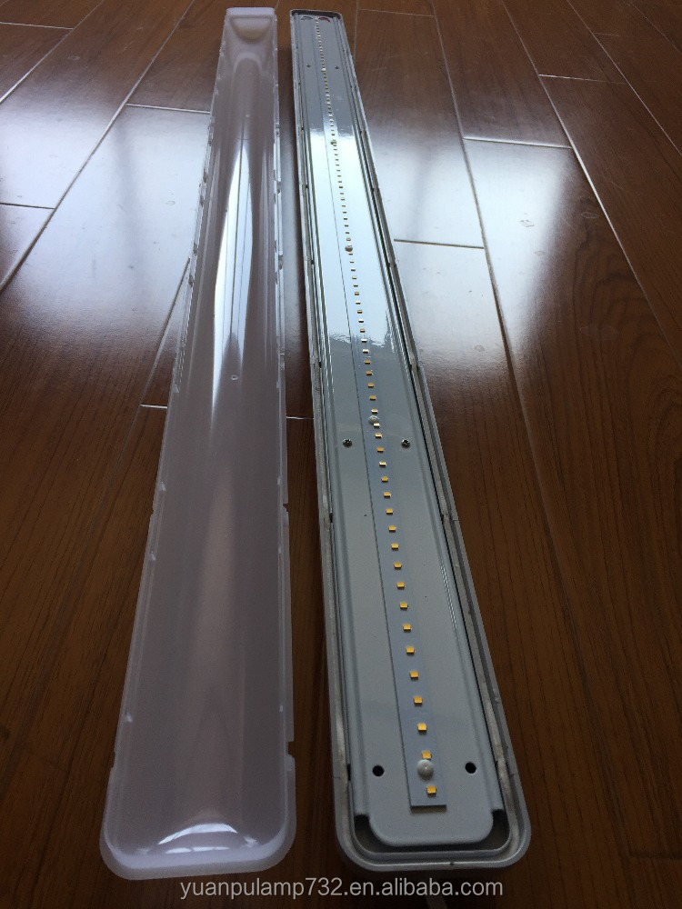 New Product 600mm IP65 PC material LED waterproof lighting fixture without clips strip 2*9w