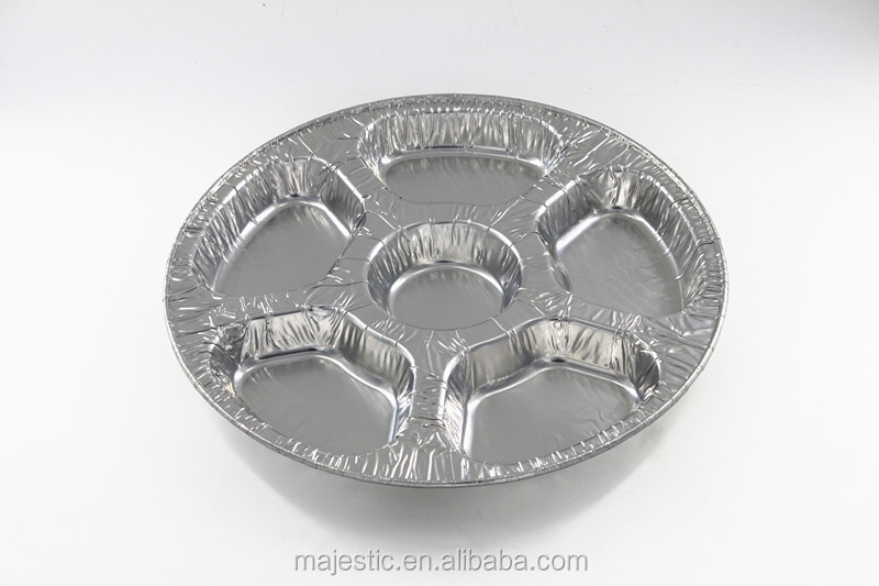 CUD360-6 New Mold Colorful Aluminum Foil Circle Shape Food Fruit Packing Tray