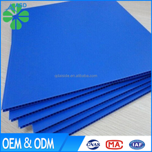 Wholesale recycled packaging material 2mm blue pp corrugated sheet plastic board oem