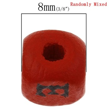 Wholesale Cube At Random Alphabet/Letter Pattern Wood Spacer Beads