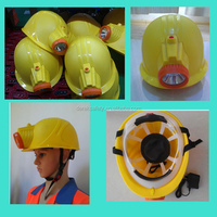 Mining Safety Helmet with LED Head Lamp