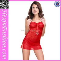 Wholesale sexy red girls nighty design