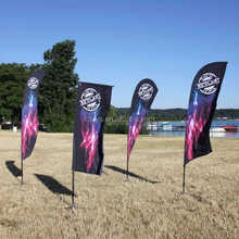 Top qualtiy outdoor promotional decorative branded event flags