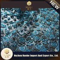 polyester water embroidery sequin fabric