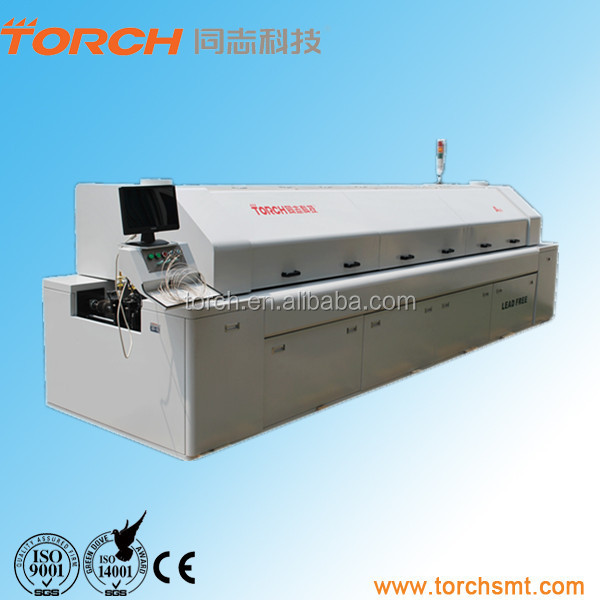 SMT BGA chip laptop and motherboard LED Reflow Soldering Machine / Lead free reflow oven with 8 zones A8