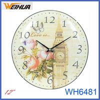 12 inch plastic home decor art clock