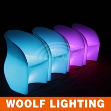 2015 popular arm led light coffee chairs