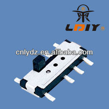 6V mini 2p2t slide switch/3 positions slide switch LY-SS10