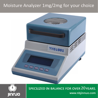 Jinnuo digital halogen moisture 50g 1mg analyzer moisture meter