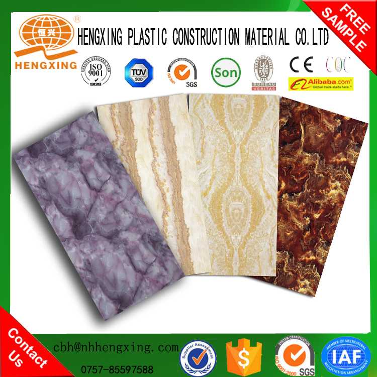 ECO marbling UV decorative panel/ Marble Surface Wall Panel/Bathroom Wall Panel