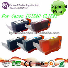 Best deal for Canon PGI-520 CLI-521 compatible color ink cartridge ,spares for Canon printer