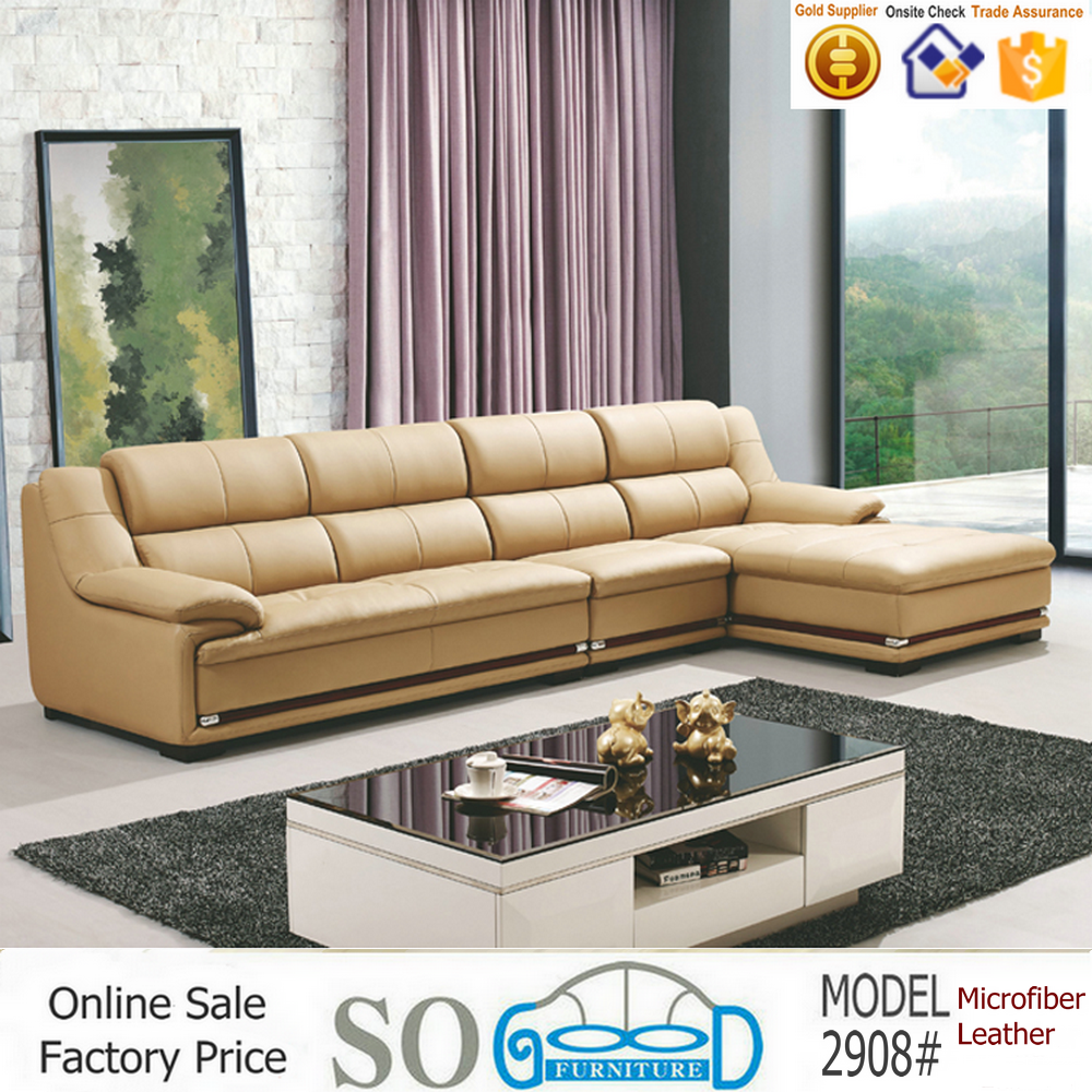 Living Room Furniture Microfiber Leather Sofa Set