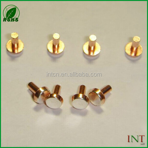 Electronic contact silver points