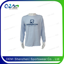 Custom performance fishing shirt 100% polyester uv dye sublimation