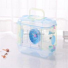 single layers Transparent Hamster Cage, Pet squirrel cages#L32*W21*25CM