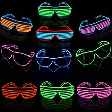 10 colors high brightness EL Wire Glasses