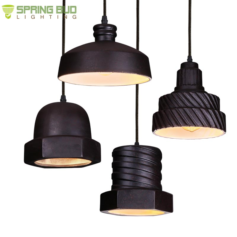 Retro loft style hanging lamp home goods ceramic pendant light for kitchen / dining room