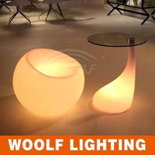 plastic led sofa/ led bar table furniture table LED glass coffee table
