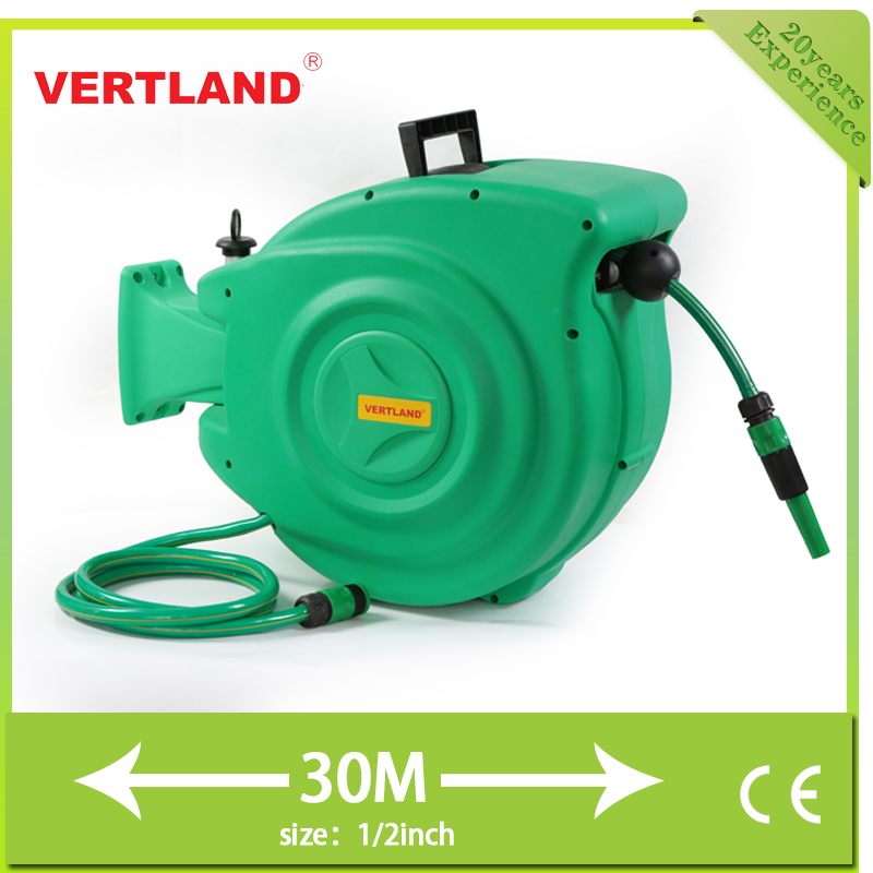 30M auo-retractable water hose reel for farm tools