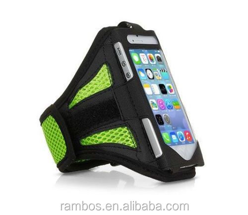 Jogging sport mesh mobile phone pouch holder case armband for iPhone 6 4.7""
