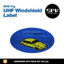 High Performance Alien H4 ISO18000-6C 860-960MHz UHF Windshield Sticker/Label for Parking/Car/Automobile Management