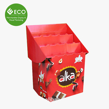 Printing Design Decorative Cardboard Display Stand For Chocolate On Retail Store
