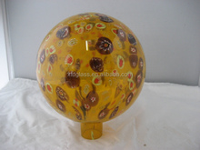 Color Big Glass Gazing Ball Decorated