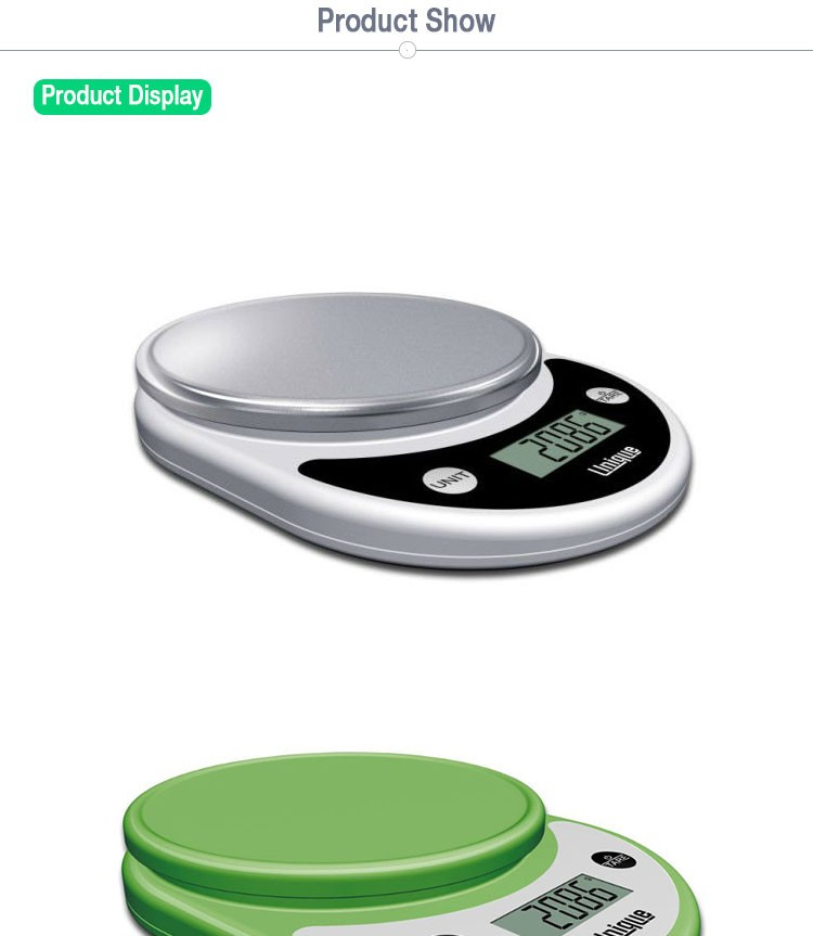 Small chrome plated digital multifunction kitchen and food electronic scale