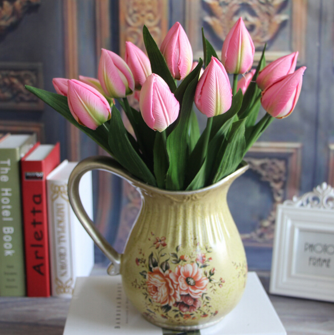 GNW FL-TU36-3 artificial flower mini tulip hot selling on the market