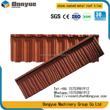 Iron oxide high quality colorful stone coated metal roof tile/sand coated steel roofing tile