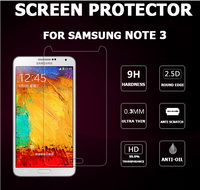 Anti-Fingerprint anti-scratch 0.3mm 9H Tempered glass screen protector for Samsung Note 3/Note4