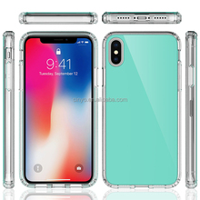 tpu case for iphone x, for apple iphone x New Arrivals Tempered Glass Screen Protector transparent clear soft tpu gel case cover