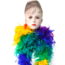Wholesale Colorful Decorations Dyed Feather Boa Turkey Scarf