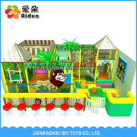 Kids Customized Cartoon Design Indoor Playground for Children Play Center with Ball Pool and Slide