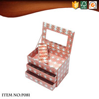 Delicate Mini Dresser Shaped Jewelry Box with Mirror