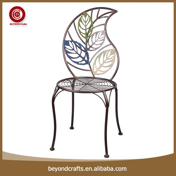 Customized leaf desin iron cast iron outdoor furniture