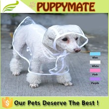 Wholesale dog transparent waterproof, clothes for dog pet clothes dog raincoats