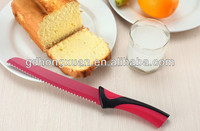 non-stick bread knife/kitchen knife PP+TPR handle-Hongxuan
