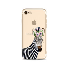 OEM Soft TPU animal Zebra cat deer garland phone case for iphone5s for iPhone 6 for iPhone 6 Plus for iPhone 6s for iPhone7