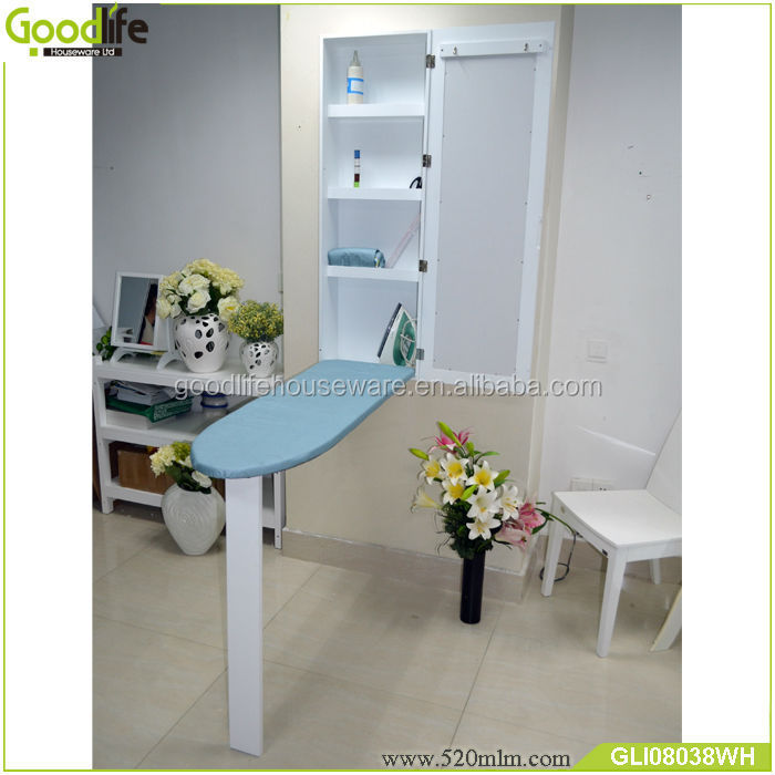 New 120cm height mirrored furniture wall mounted folding ironing board