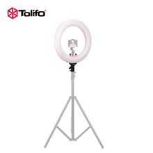 Tolifo 18'' Bi-Color Beauty Ring Light LED Circle Ring Light Makeup For Smartphone Camera Photography Video Shooting and Youtube