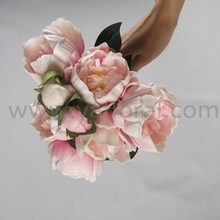 Wholesale artificial real touch peony PU flower wedding bouquet flower for bride