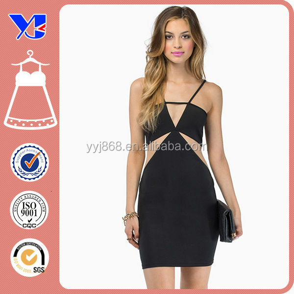 Mesh cutout ladies modern whole dress manufacture